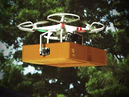 drone w package